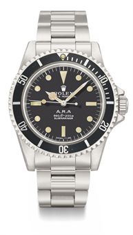Rolex. An extremely rare stainless steel automatic wristwatch with sweep centre seconds, hack feature, bracelet, gas escape valve and box, made for COMEX and sold to the Argentine Navy