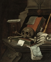 A vanitas still life with bone