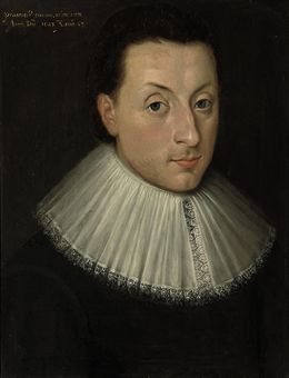 Portrait of a gentleman, bust-length, in a black doublet with a lace ruff