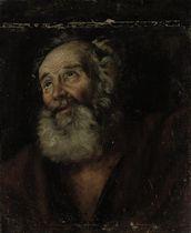 Head of a male saint