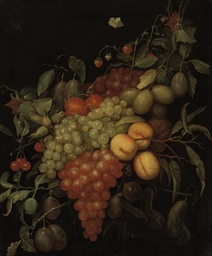 Peaches, plums, grapes, cherri