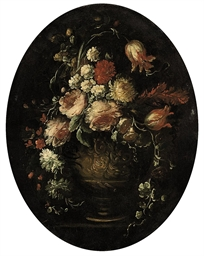 Roses, parrot tulips, carnatio
