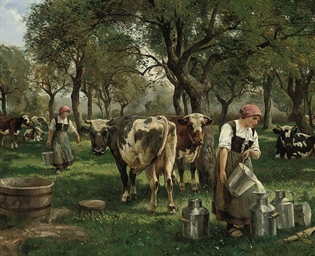 The young milkmaids