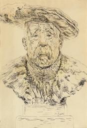 Emile Loubet, a caricature