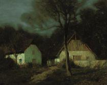 Nightfall at the farm