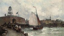 Sailors on the quay
