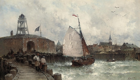 Sailors on the quay