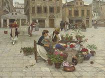 A tryst at a Venetian flower market