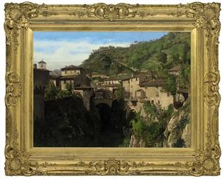 An Italian hillside town