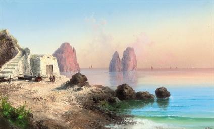 Fishermen before I Faraglioni,