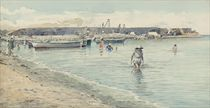 Swimmers on the Neapolitan coast