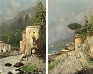 Fisherfolk on the Amalfi coast