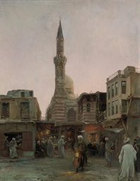 The bazaar before the mosque