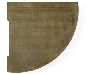 A LARGE SINGLE-SIDED BRASS QUA