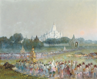 A Buddhist Procession to Anand