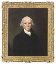 Portrait of Warren Hastings (1732-1818), Governor-General of Bengal, bust-length, in a blue coat and white stock