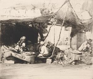 A bazaar at Peshawar
