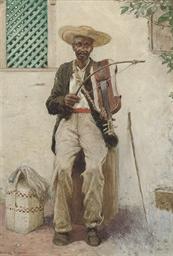 A street musician, South Ameri