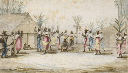 A plantation scene with slaves