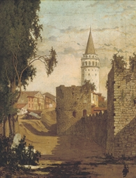 The Galata Tower, Constantinop