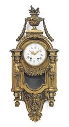 A FRENCH ORMOLU CARTEL CLOCK
