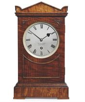 AN EARLY VICTORIAN EIGHT DAY TIMEPIECE TABLE CLOCK