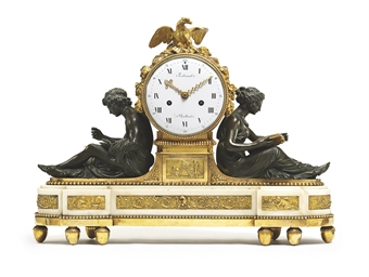 A LOUIS XVI ORMOLU, PATINATED