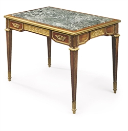A FRENCH ORMOLU-MOUNTED MAHOGA