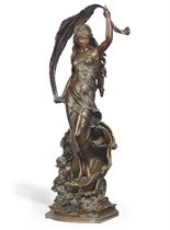 A FRENCH BRONZE FIGURE OF 'LE CHAR D'AURORE'