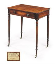 A GEORGE IV MAHOGANY CHAMBER WRITING-TABLE