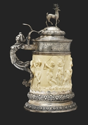 A CONTINENTAL SILVER-MOUNTED I