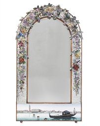 A VENETIAN GLASS MOSAIC MIRROR