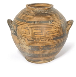 A GREEK GEOMETRIC POTTERY KRAT
