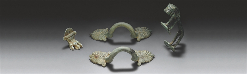 A BYZANTINE BRONZE HANDLE IN T