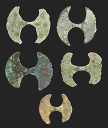 FIVE MINIATURE MINOAN BRONZE D