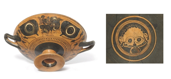 AN ATTIC BLACK-FIGURE EYE CUP