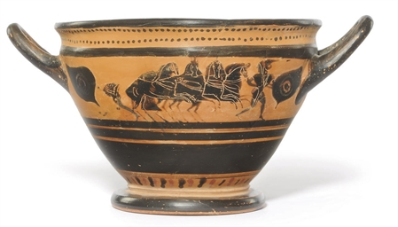 AN ATTIC BLACK-FIGURE SKYPHOS