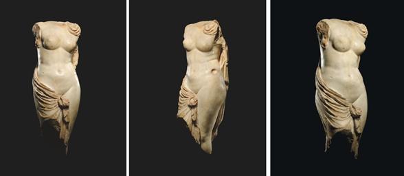 A ROMAN MARBLE TORSO OF APHROD