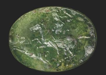 A GRAECO-PERSIAN AGATE SCARABO