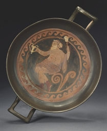 A PAESTAN RED-FIGURE KYLIX