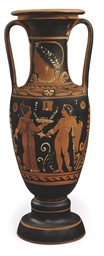 A PAESTAN RED-FIGURE AMPHORA