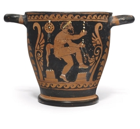 A PAESTAN RED-FIGURE SKYPHOS
