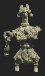 A LURISTAN BRONZE FIGURE OF A