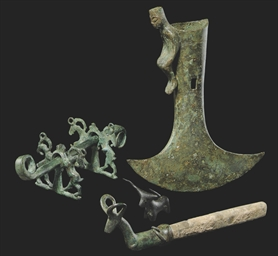 A BACTRIAN BRONZE AXE HEAD