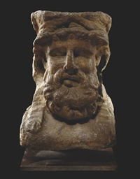 A ROMAN MARBLE HERM HEAD OF DI