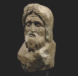A ROMAN MARBLE HERM HEAD
