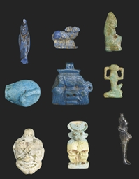 NINE EGYPTIAN AMULETS