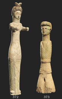 A ROMAN BONE FEMALE DOLL