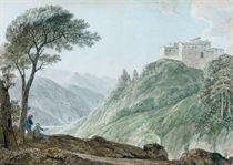 An Italianate villa on a hillside