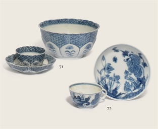 A MEISSEN BLUE AND WHITE TEACU